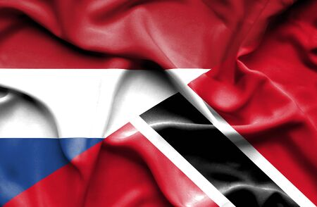 tobago: Waving flag of Trinidad and Tobago and