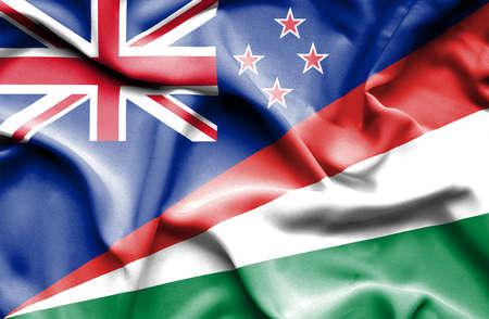 bandera de nueva zelanda: Ondeando la bandera de Seychelles y Nueva Zelanda