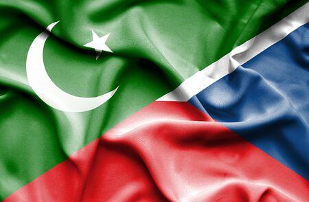 the czech republic: Waving flag of Czech Republic and Pakistan