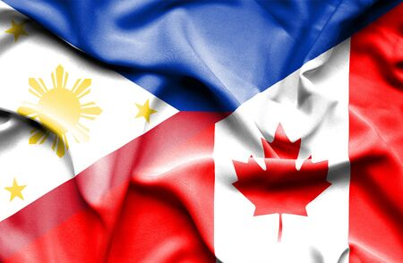 canadian: Waving flag of Canada and Philippines