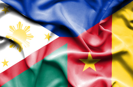 cameroonian: Waving flag of Cameroon and Philippines
