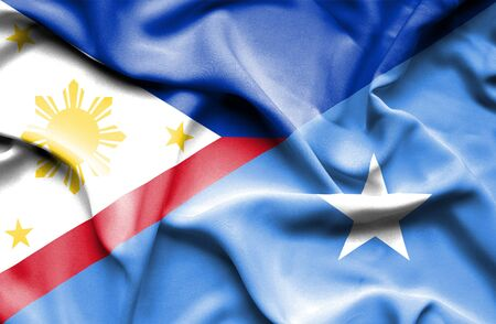 somalian culture: Waving flag of Somalia and Philippines