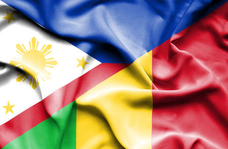 mali: Waving flag of Mali and Philippines