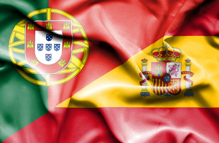 portugese: Waving flag of Spain and Portugal