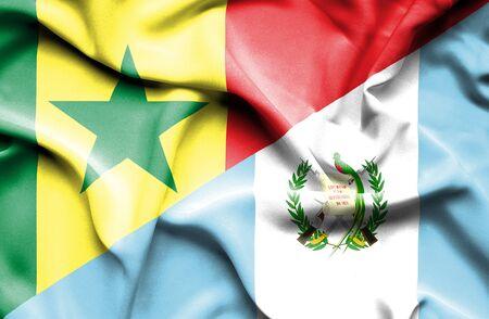 guatemalan: Waving flag of Guatemala and Senegal
