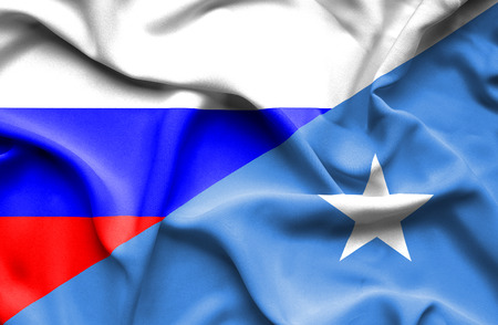 somalian culture: Waving flag of Somalia and Russia