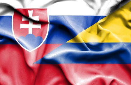 slovak: Waving flag of Columbia and Slovak