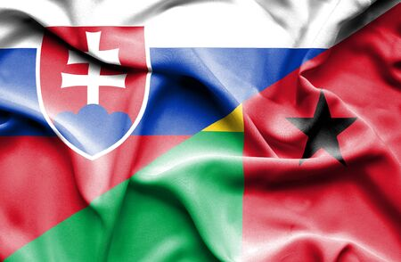 slovak: Waving flag of Guinea Bissau and Slovak