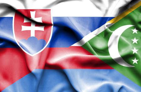 slovak: Waving flag of Comoros and Slovak