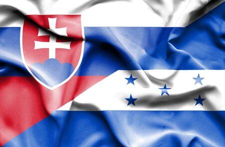 slovak: Waving flag of Honduras and Slovak