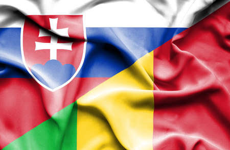 slovak: Waving flag of Mali and Slovak
