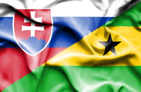principe: Ondeando la bandera de Santo Tom� y Pr�ncipe y Eslovaca