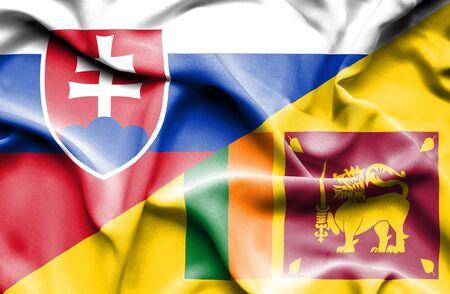 slovak: Waving flag of Sri Lanka and Slovak