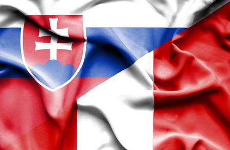 slovak: Waving flag of Peru and Slovak