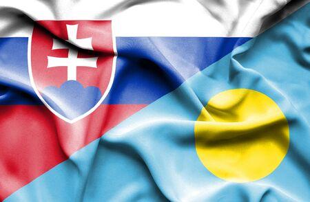 slovak: Waving flag of Palau and Slovak