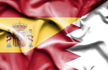 bahrain: Bahrain waving flag Spain