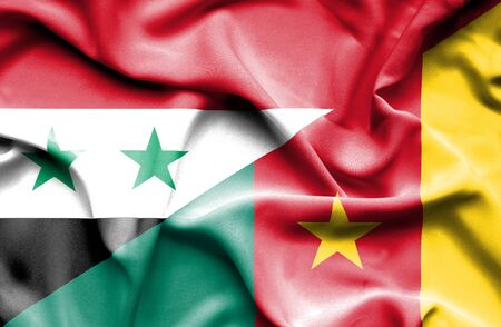 cameroonian: Waving flag of Cameroon and Syria