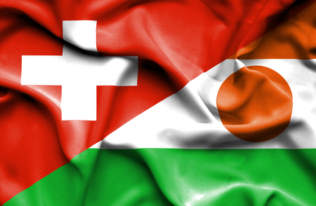 niger: Waving flag of Niger and
