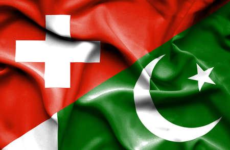 Pakistan: Waving flag of Pakistan and