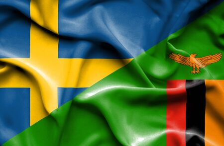 zimbabwe: Ondeando la bandera de Zimbabwe y