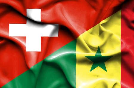 senegal: Waving flag of Senegal and