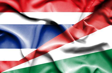 seychelles: Waving flag of Seychelles and Thailand