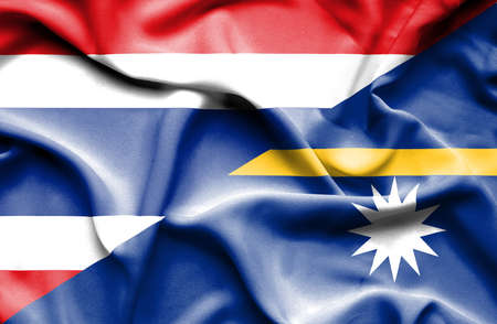 nauru: Waving flag of Nauru and Thailand