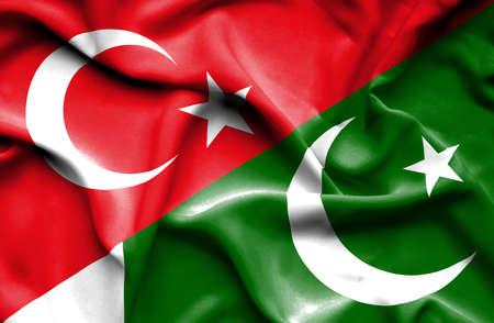 flag of pakistan: Waving flag of Pakistan and