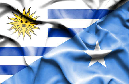 somalian culture: Waving flag of Somalia and Uruguay