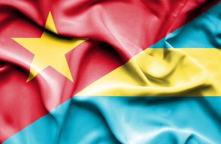 bahamas: Waving flag of Bahamas and Vietnam