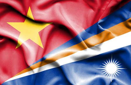 marshall: Waving flag of Marshall Islands and Vietnam