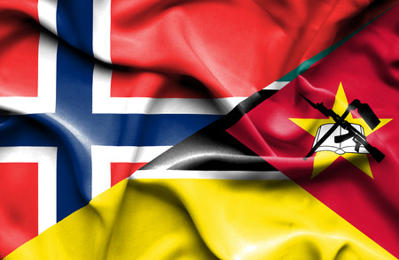 mozambique: Waving flag of Mozambique and