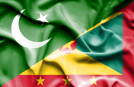 guernsey: Waving flag of Guernsey and Pakistan