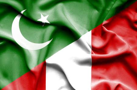 flag of pakistan: Waving flag of Peru and Pakistan