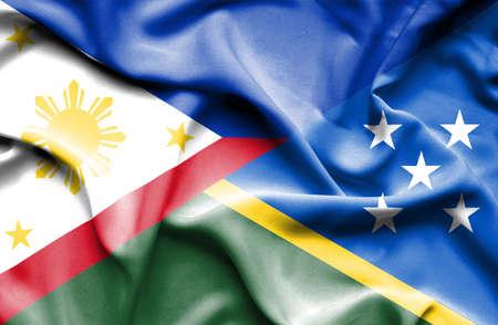 solomon: Waving flag of Solomon Islands and Philippines
