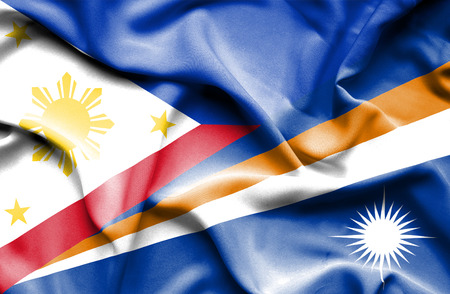 marshall: Waving flag of Marshall Islands and Philippines