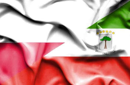 equatorial: Waving flag of Equatorial Giuinea and Poland