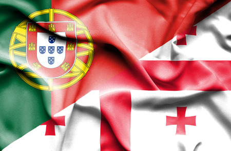 portugese: Waving flag of Georgia and