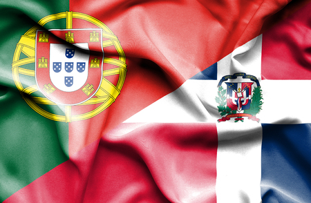 portugese: Waving flag of Dominican Republic and