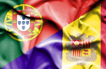 portugese: Waving flag of Andorra and