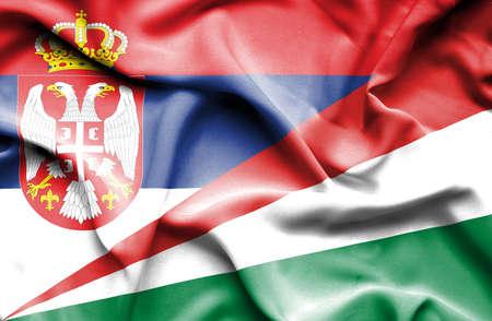 seychelles: Waving flag of Seychelles and Serbia