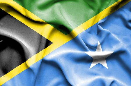 somalian culture: Waving flag of Somalia and Jamaica