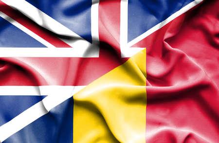 chad: Waving flag of Chad and