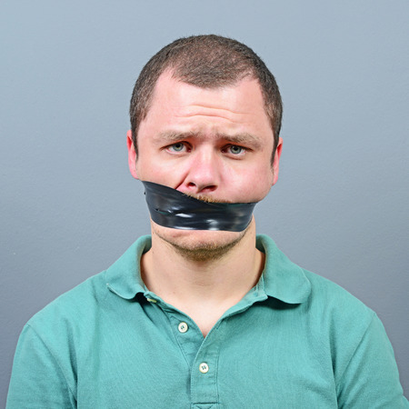 silenced: Kidnapped man with tape over his mouth