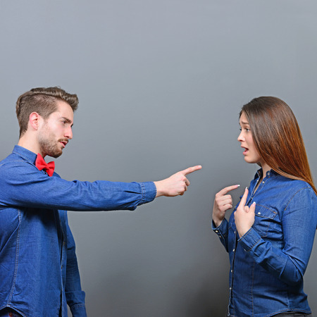 accusing: He accusing her - Couple fighting series