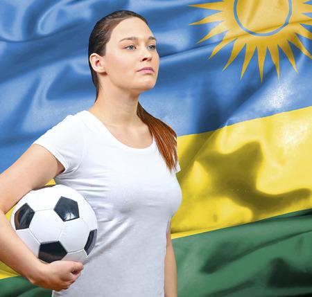 rwanda: Proud woman football fan of Rwanda