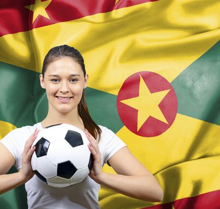 guernsey: Proud woman football fan of Guernsey