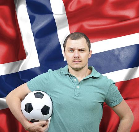 proud: Proud football fan of Norway