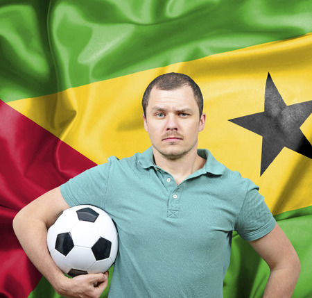 tome: Proud football fan of Sao Tome and Principe Stock Photo
