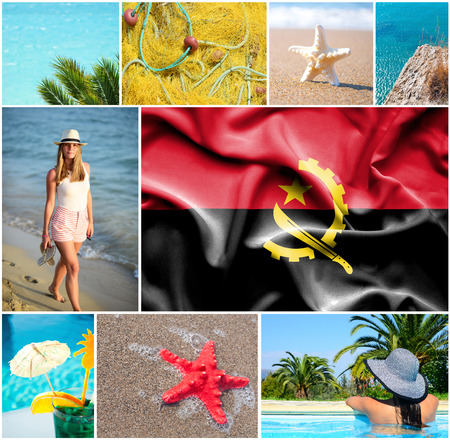 angola: Conceptual collage of summer vacation in Angola Stock Photo